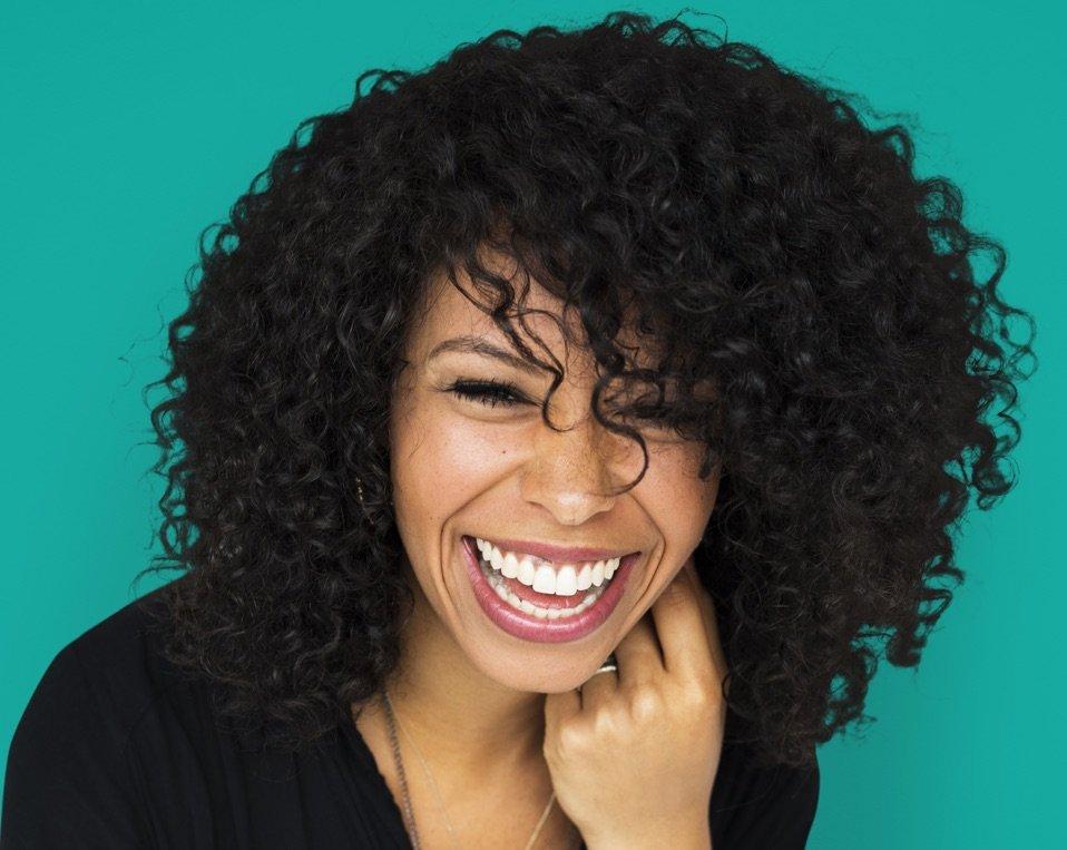 Closeup of Happy Woman